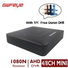 4/8 Canales MINI CCTV AHD DVR 4CH 8CH AHD Seguridad 1080N CCTV Dvr Grabador de Vídeo Soporta 720 P 960 P 1080 P P2P XMEYE