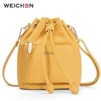 WEICHEN моды ведро сумка Для женщин Drawstring Кроссбоди сумка женская Курьерские сумки дамы Синтетическая кожа Сумка Sac