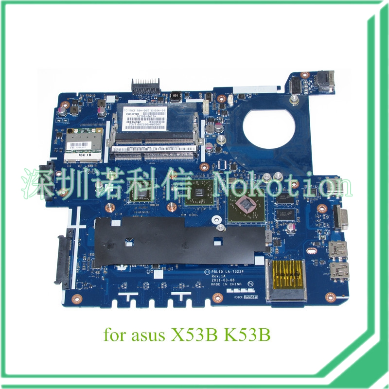 PBL60 LA-7322P Rev 1A For ASUS X53B K53B Laptop motherboard E450 CPU ATI graphics DDR3