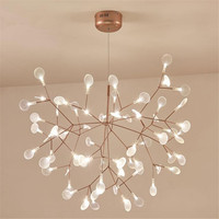 Новый Дизайн акрил Современные Люстры, лампы G4 светодио дный Люстра Потолочный фонарь Спальня подвесной светильник Firefly блеск