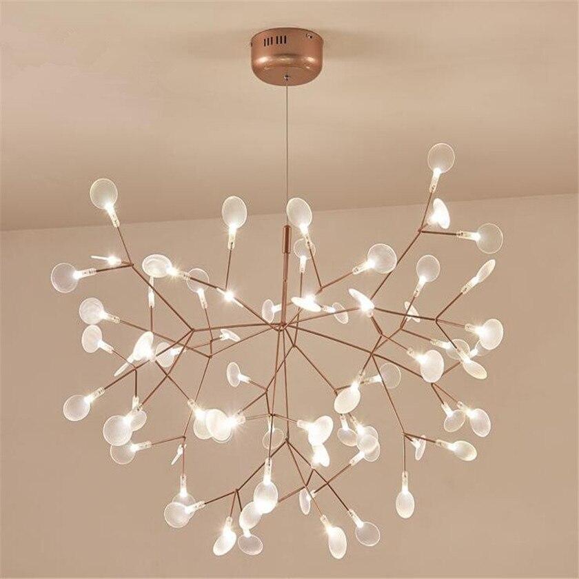 Neue Design Acryl Moderne Kronleuchter Beleuchtung lampe G4 led Kronleuchter Decke Luminaria Schlafzimmer Ausgesetzt Lampe Firefly Glanz