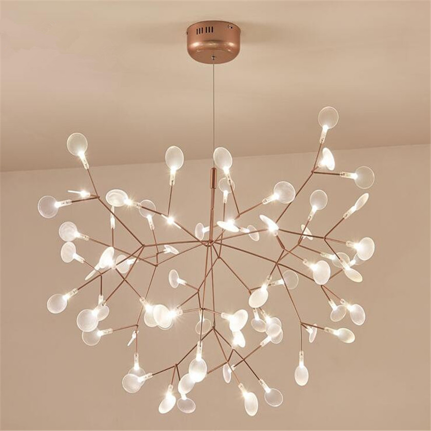 Nouveau Design Acrylique Moderne Lustre lampe D'éclairage G4 led Lustre Plafond Luminaria Chambre Suspendu Lampe Luciole Lustre
