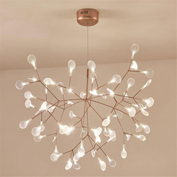 Nuevo diseño acrílico araña moderna iluminación lámpara G4 lámpara led de techo Luminaria dormitorio lámpara de suspensión Firefly brillo