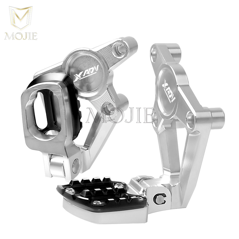 XADV 2018 For HONDA X-ADV XADV 750 2017 2018 Rear Foot Pegs Footrest Motorcycle Accessories XADV Passenger Foot Pegs Footrests