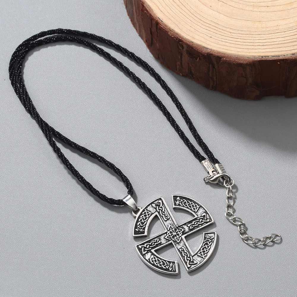 CHENGXUN w stylu Punk Native północnej Valknut słowiański talizman Gromovik wisiorek stary naszyjnik Viking biżuteria