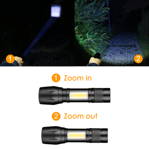 Image 3 - COB LED Flashlight Super Bright Waterproof Handheld Flashlights Torch Pocket Work Light for Emergency Lighting By 1xAA Battery