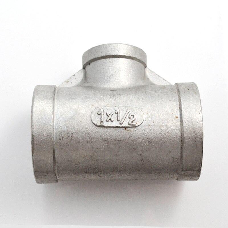 "FGHGF 1 ""X1/2"" X 1 ""femelle réducteur fileté té acier inoxydable SS304 F/F/F raccords de tuyauterie"