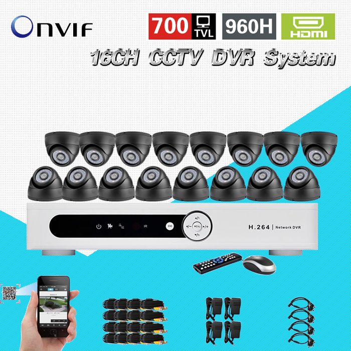 TEATE CCTV surveillance system 16 channel dvr recording with 16pcs 700tvl dome security camera system cctv dvr kit 16ch CK-206 home cctv surveillance system 16 channel dvr recording with 16pcs 700tvl dome security camera system cctv dvr kit 16ch ck 206