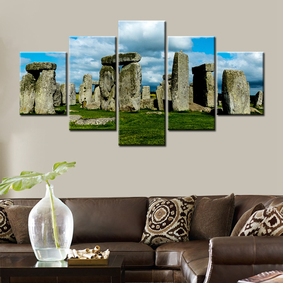 Famous Historic Monuments Stonehenge England Landscape Wall Art Home Decor Canvas Painting for Kitchen Office Wall Decor Artwork-in Painting u0026 Calligraphy ... & Famous Historic Monuments Stonehenge England Landscape Wall Art Home ...