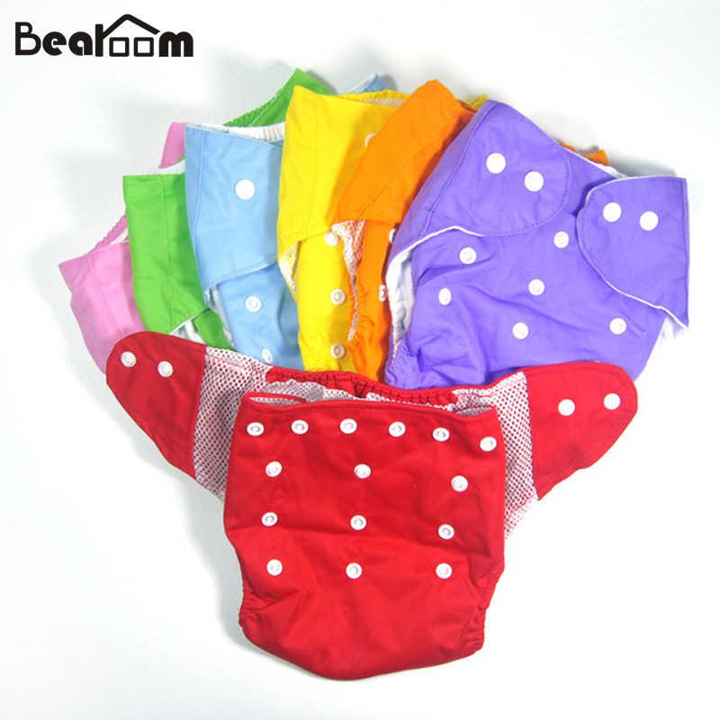 63ea983ac61d 1 шт. водостойкие регулируемые хлопковые детские штаны Подгузники  Многоразовые Детские Детский