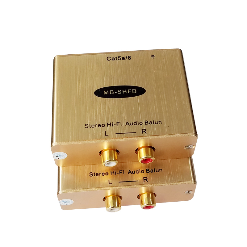 Stereo Hi Fi Audio to RJ45 Extender Up to 1KM With Eliminate noise RCA to RJ45