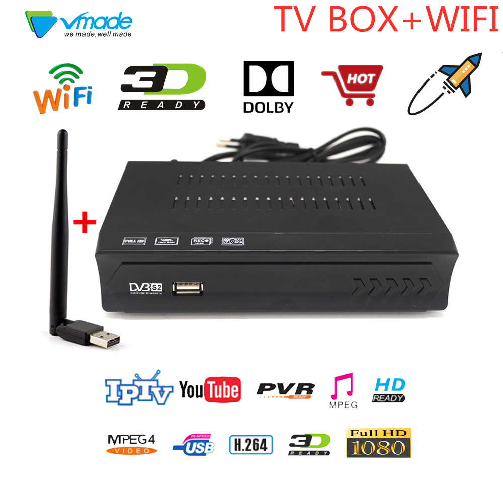 DVB S2 M5 With USB WIFI DVB S2 In Satellite TV Receiver Full HD 1080P H.264 Support YOUTUBE CCCAM Dolby Youporn Set Top Boxes