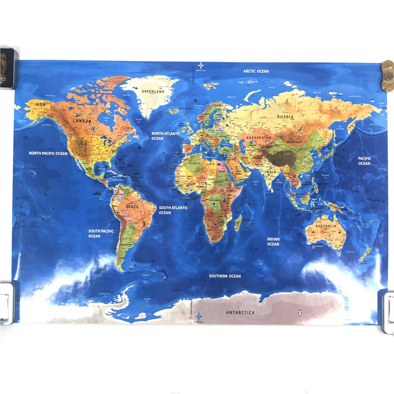 New arrival blow world map the world ocean map home decor wall art new arrival blow world map the world ocean map home decor wall art craft vintage poster travel 82x59cm for living room in wall stickers from home garden gumiabroncs Gallery