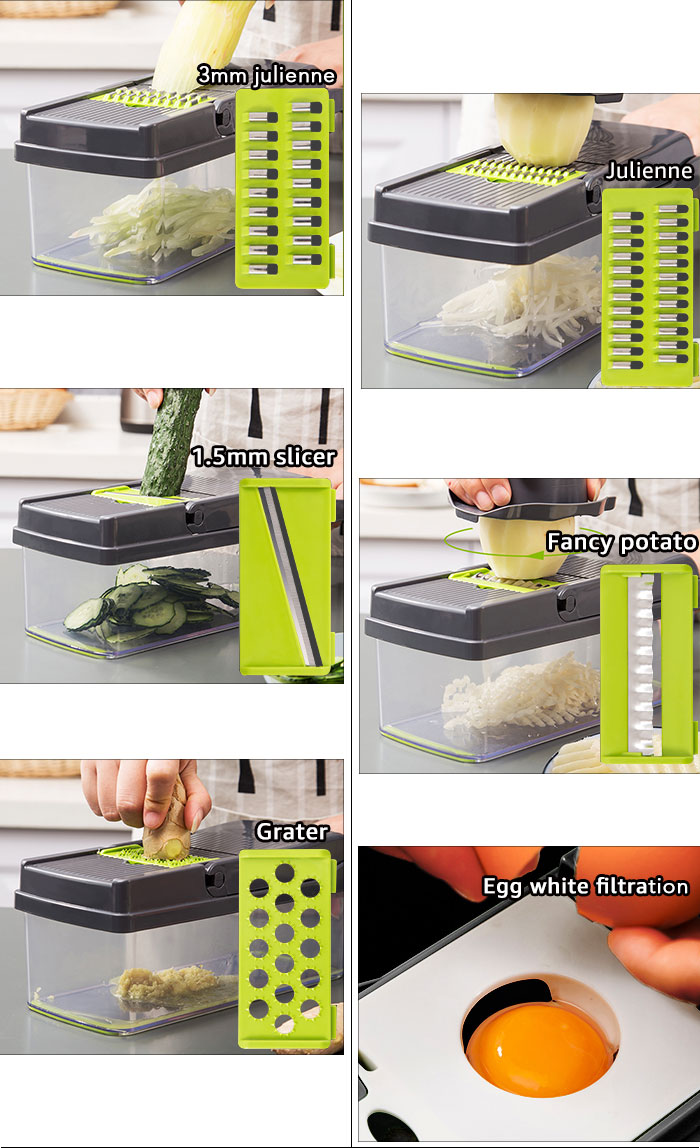 Coupe-légumes accessoires de cuisine