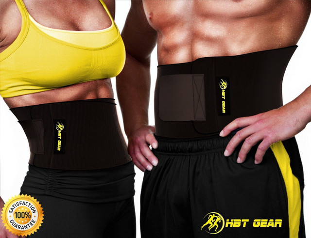 91fb6cadae Waist Trimmer by HBT Gear - Trim Belt for Targeting Ab Muscles - Best  Neoprene Waist Trainer for Wider Coverage