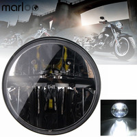 Marloo Daymaker Harley LED Headlight Harley Touring Electra Glide Road King Street Glide Ultra Limited 7 Inch Round Led Headlamp