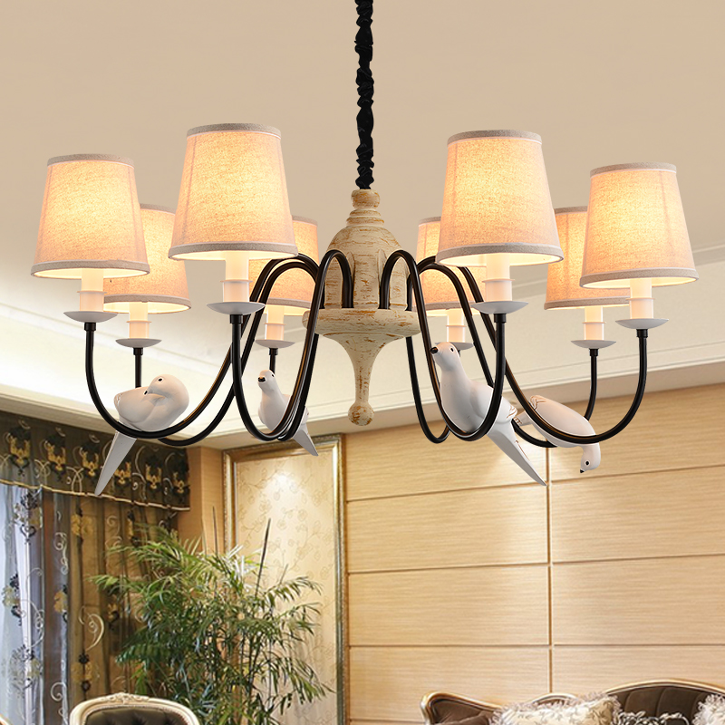 GOLD North European and American style rural chandelier transparent bird lamp LED Modern Chandelier Lights For Living RoomGOLD North European and American style rural chandelier transparent bird lamp LED Modern Chandelier Lights For Living Room