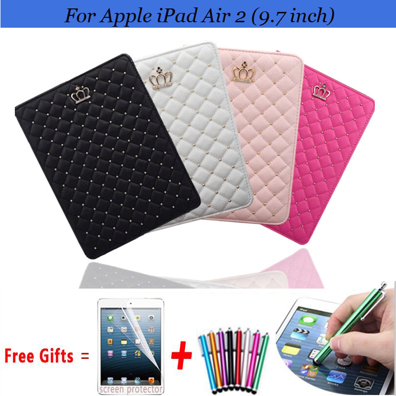 Fashion Girls Cover Case For Apple iPad Air 2 PU Leather Flip Smart Stand Case for ipad air2 Cover Sleep/Wake Cases for iPad 6