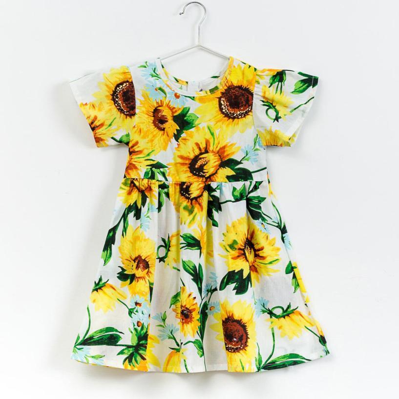 Fashion Baby Girls Kids Infant Toddle Floral Cartoon Sundress Clothes Princess Dress Princess Dresses For Girls Clothes Vestidos