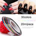 1Piece Mixed Colors Nail Rolls Striping Tape Line DIY Nail Art Tips Decoration Sticker Nails Care for nail Polish heavy Tools