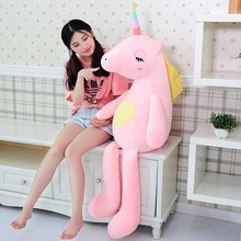 110/140 Cm Soft Rainbow Unicorn Plush Toy Adorable Stuffed Animal Toys For Children