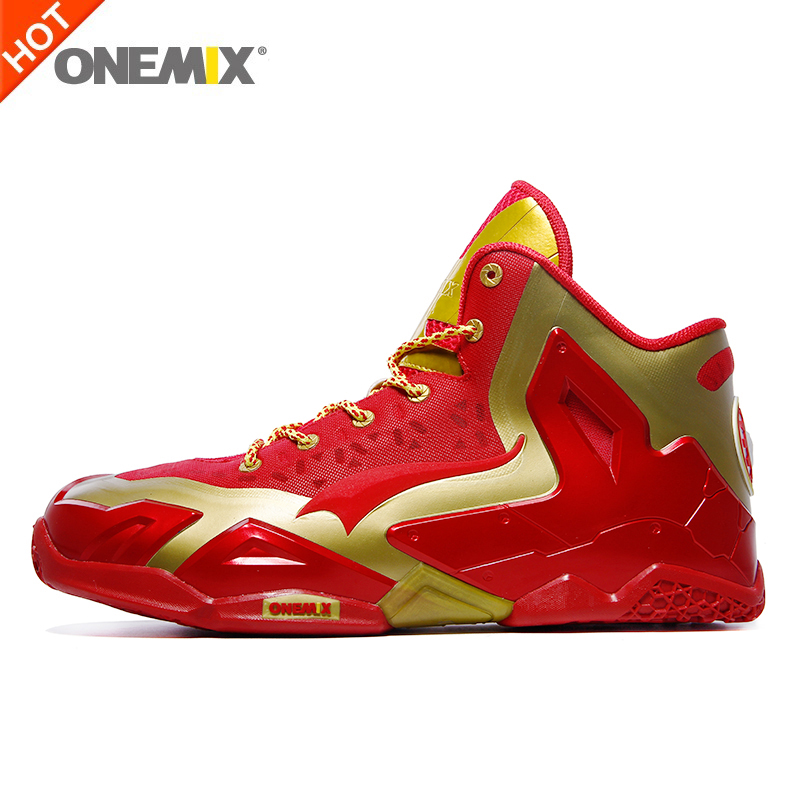 Onemix men basketball shoes cheap athletic sport sneakers anti-slip basketball boots free shipping plus size US7-US12 original li ning men professional basketball shoes