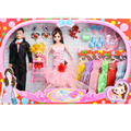 Dolls Family 3Pcs/Set Happy Family Pack Removable Joints Ken Prince Baby Doll Clothes Boyfriend Toy Xmas Gifts Kawaii For Kids