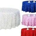 120 satén roseta plata mantel cinta redondo rosa pastel mesa boda lujo por envío gratis con alta calidad