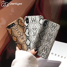 Qianliyao Snake Skin Pattern Phone Case For iPhone 8 7 6 6s Plus Case Hard PC Back Cover For iPhone X XS MAX XR Coque Fundas motomo brushed aluminum middle skin hard pc cover for iphone 6s plus 6 plus gold