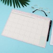 Almofada de papel mensal 20 folhas, diy planejador agenda de mesa presente escolar material de escritório