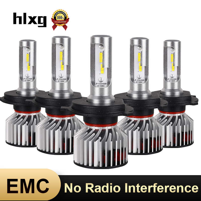 HLXG H7 LED Bulbs 12V Car Headlight H1 H11 H4 Light 6000K H8 HB3/9005 HB4/9006 Lamp No Radio Interference for skoda octavia