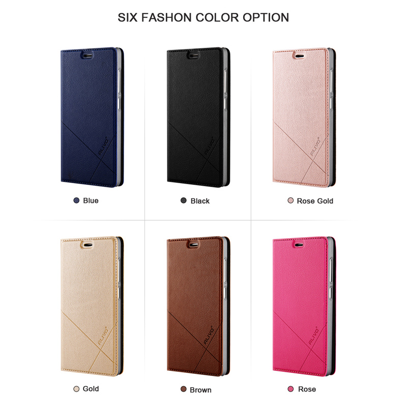 for Xiaomi Redmi 5 Case Redmi5 Plus ALIVO Leather Flip Cover Phone Case for Xiaomi Redmi 5A 5 A Wallet Protective Coque in Flip Cases from Cellphones Telecommunications