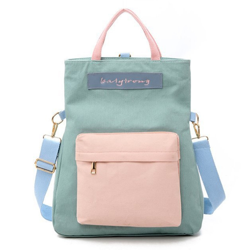 2019 new design college style Zipper opening women backpack