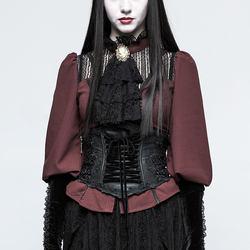 Gothic Lolita Gordel Vrouwen body harnas brocade trekkoord vrouwen lederen corset