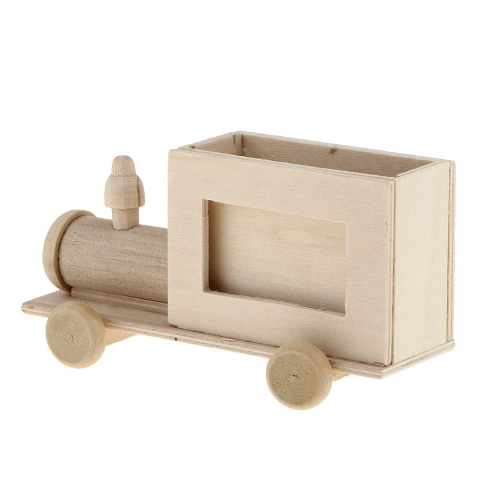 لم تنته الخشب لتقوم بها بنفسك حامل قلم الخشب يدوية منظم مكتب وعاء القلم مدرسة اللوازم المكتبية حافظة أقلام أطفال MDF الإبداعية لتقوم بها بنفسك اللعب