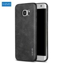 X-LEVEL Оригинальный чехол для Samsung S6 S7 S6 край S7 край J5 J7 A5 A7 2016 Примечание 5 Чехол Коке Винтажные серии кожа с покрытием Hard