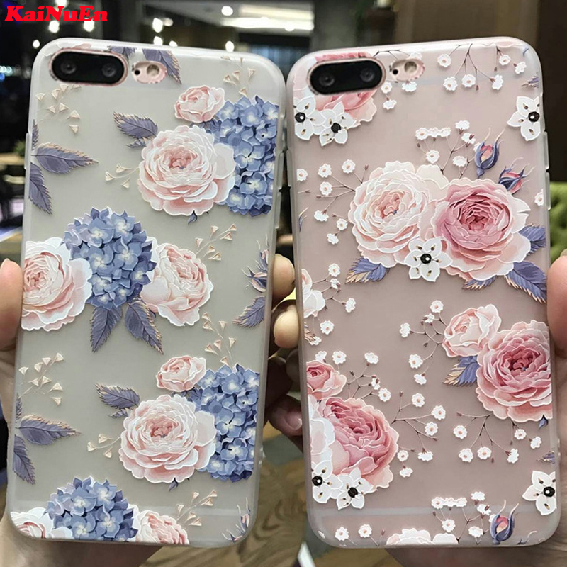 KaiNuEn luxury 3d tpu phone back copy,capinha,coque,case,cover for iphone 7 plus 7plus for apple iphone7plus silicone silicon i