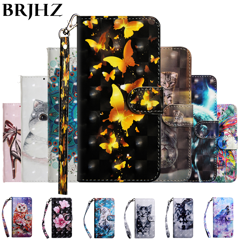 3D Flip Wallet Leather Case on for <font><b>Fundas</b></font> <font><b>Huawei</b></font> Y3 Y5 Y6 <font><b>2017</b></font> 2018 Y5 Y6 <font><b>Y7</b></font> Prime Lite 2018 <font><b>Y7</b></font> Y6 Pro 2019 Phone Case Cover image