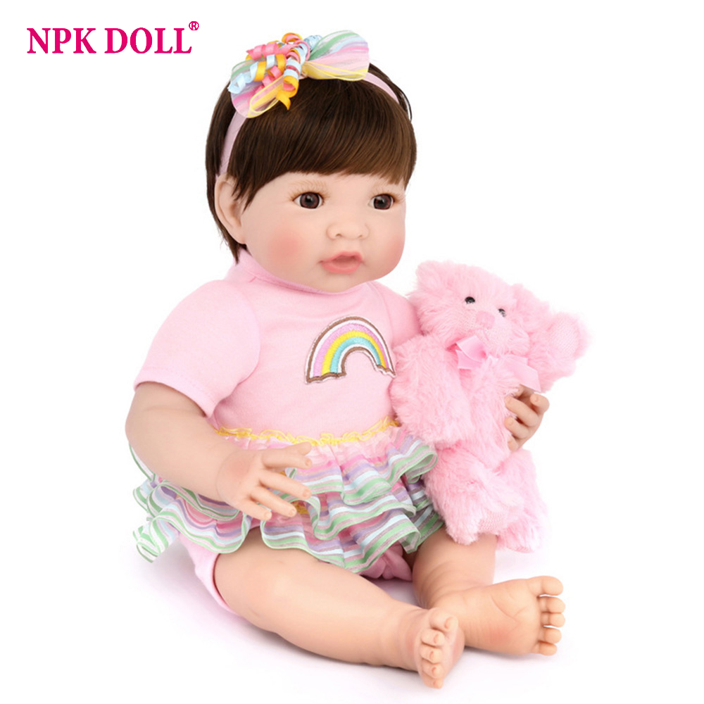 Latest new 35cm Silicone Reborn Baby Dolls Boneca Reborn Realista Fashion Dolls For Princess Children Birthday Gift Bebes RebornLatest new 35cm Silicone Reborn Baby Dolls Boneca Reborn Realista Fashion Dolls For Princess Children Birthday Gift Bebes Reborn