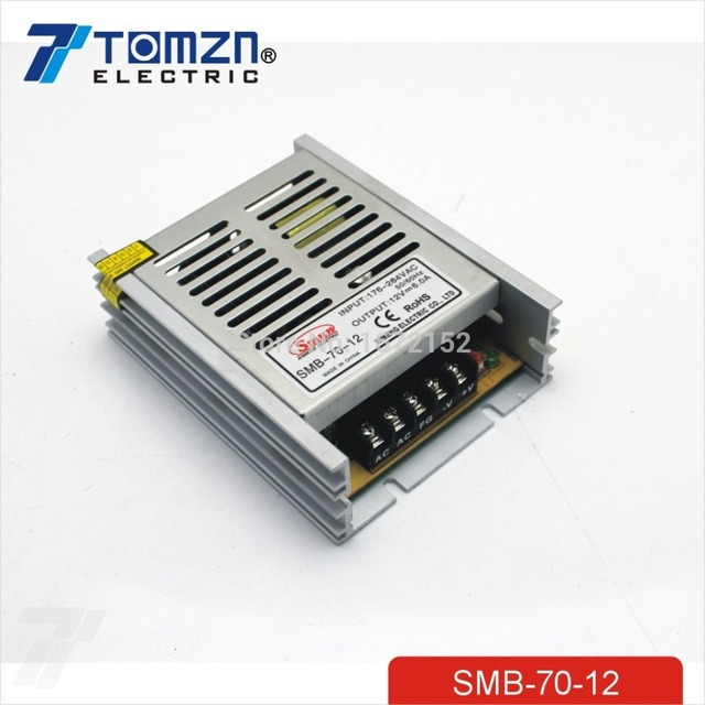 70W 12V 6A Ultra thin Single Output Switching power supply for led Strip light 100-260V INPUT