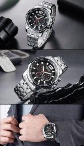 Image 5 - MEGIR גברים שעון יוקרה למעלה מותג הכרונוגרף לוח שנה שעוני יד צבאי ספורט מלא פלדה חדש זכר שעון Relogio Masculino 2068