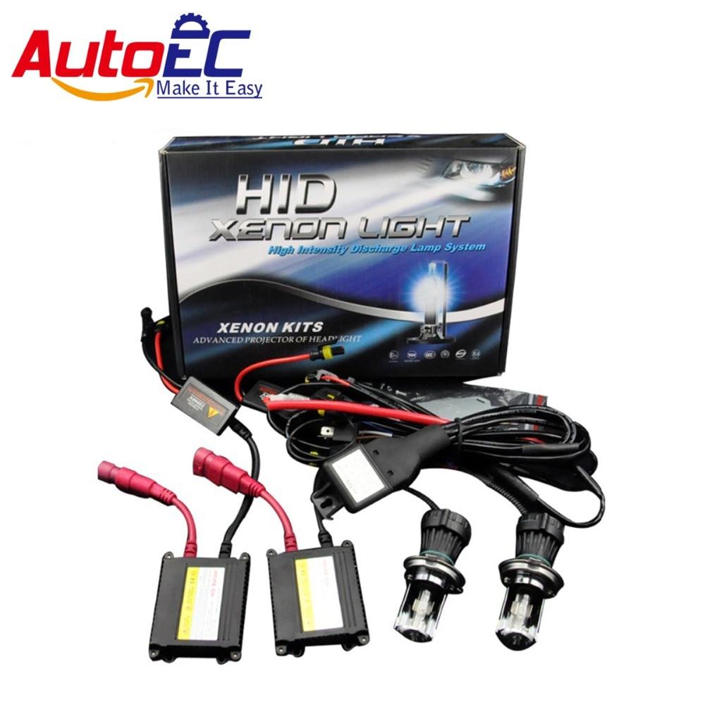 AutoEC 1set 12V H4-3 xenon H4 Bixenon H4 kit hid hi lo 35w Xenon HID Kit ballast H1 H3C H7R H9 HB1 HB3 HB4 HB5 #LM17