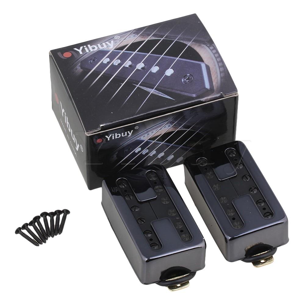 Yibuy Dual Coil Black Electrical Guitar Humbucker Pickups Neck & Bridge Pack of 2 ark benefit u2 dual black