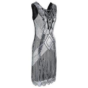 Image 3 - トップゴールドレッド黒ヴィンテージスパンコール刺繍セクシーなウェディング女性カクテルドレスパーティードレス Vestido デ · フェスタ Curto デ Luxo 64450