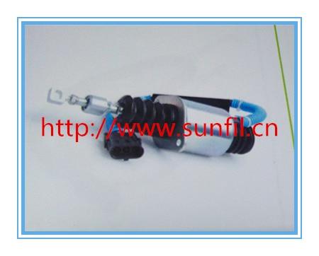 D59-105-12 Fuel Shutdown Shut engine solenoid for D6114 ,12V 3924450 2001es 12 fuel shutdown solenoid valve for cummins hitachi