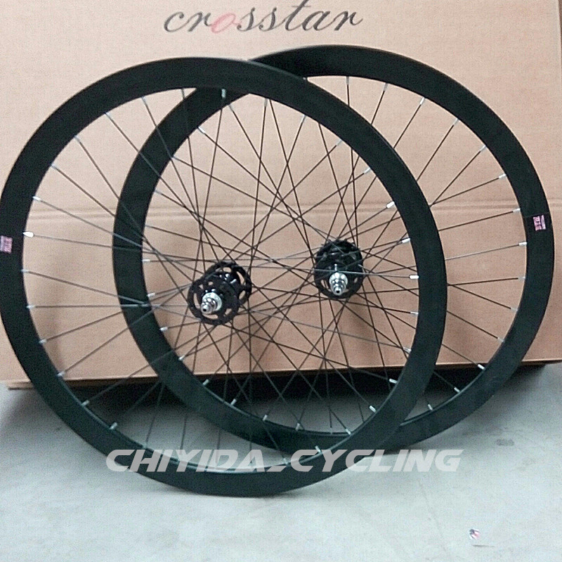 Fixed Gear wheelset 40mm aluminum novatec bearing hub track wheel front/rear velo track bicycle wheelset fixie wheelset rear wheel hub bearing fit for hyundai accent 512193 5271025000 5271025001