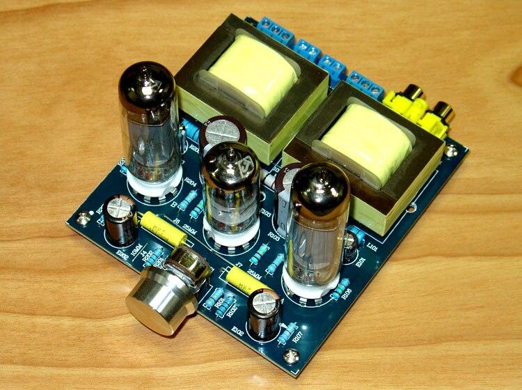 6N1/6N2 pousser 6P14 Tube 3.5 w + 3.W (8 ohms) unipolaires classe Fièvre Classe Tube Amplificateur 121X110X35mm