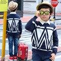 2016 Baby Boys Jumper Autumn Winter Cartoon Sweater Kids Children Knitted Pullover Warm Outerwear Baby Cardigan Boys Sweater