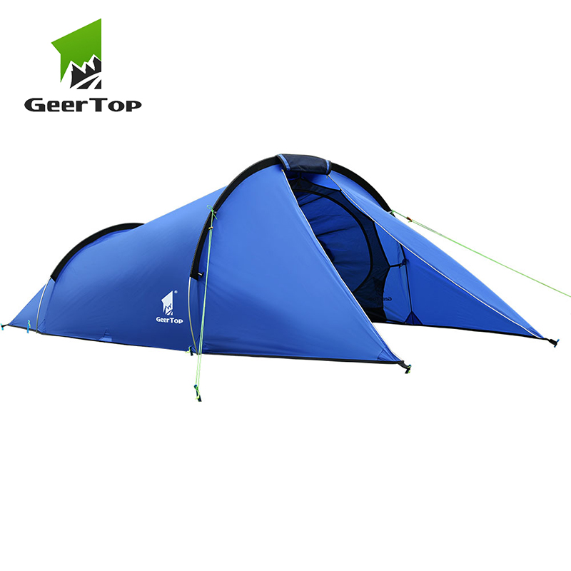 GeerTop 2 Person 3 Season Outdoor Camping Tent Ultralight Large Tunnel Tents Waterproof Easy Folding Tent