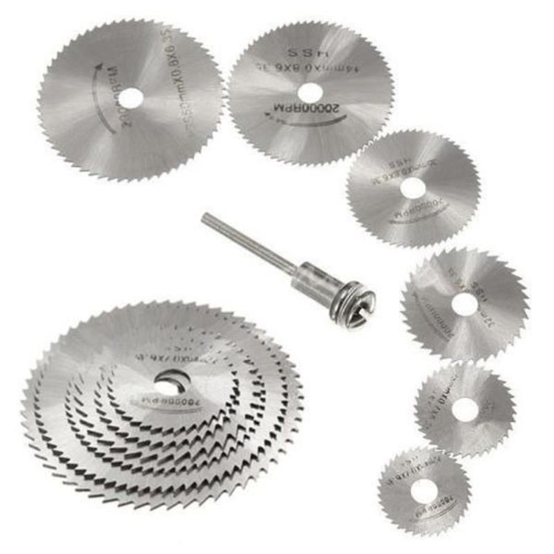 7in1 HSS Circular Saw Blade With Mandrel Rotary Tool Metal Cutting Disc For Wood Cutting Blade Discs
